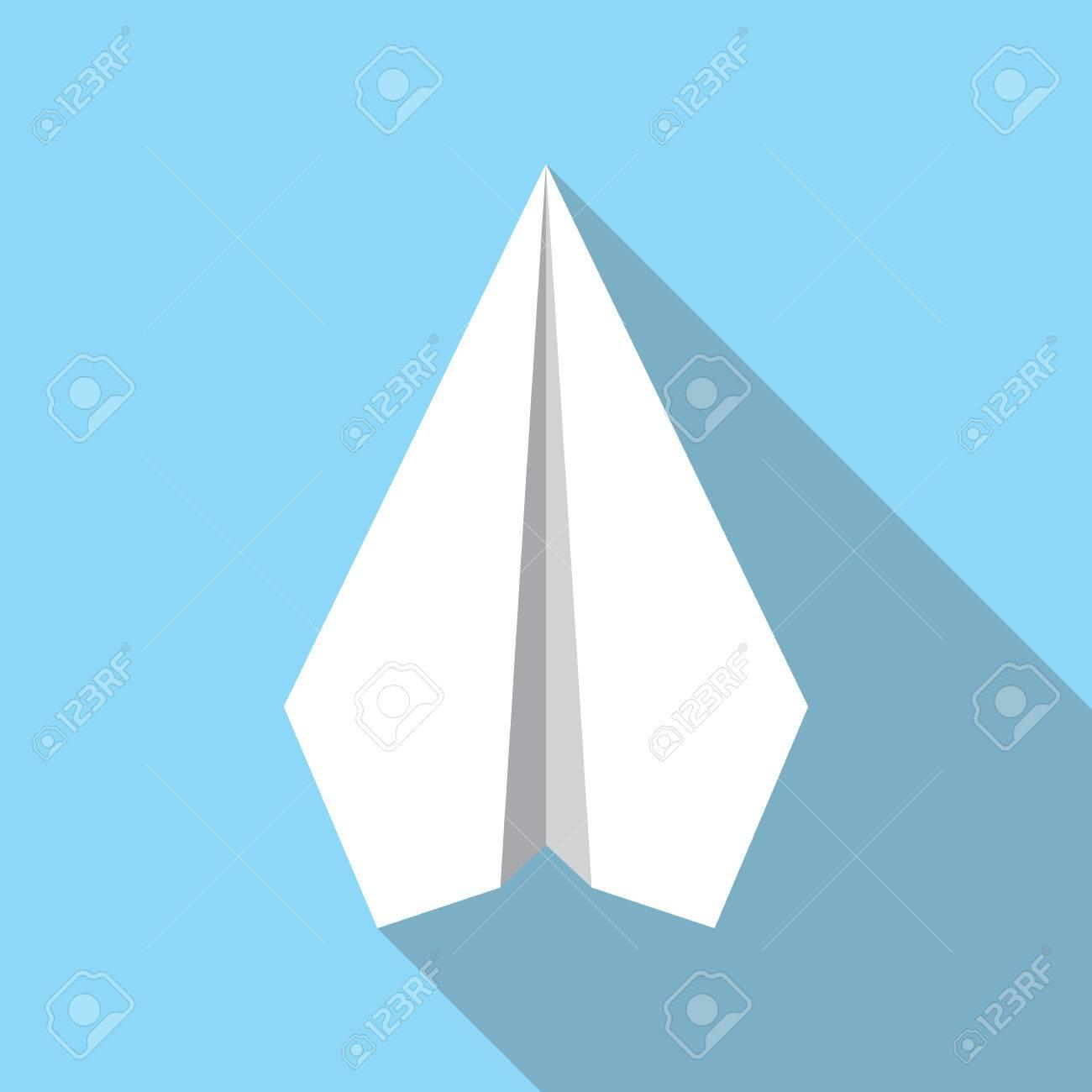 Signe Dicône Plat De Navigation Avion Papier Symbole Davion