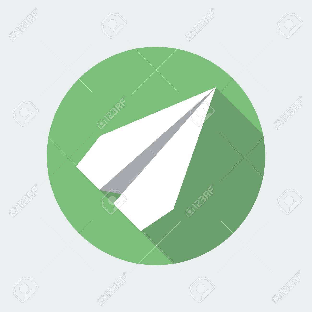 Paper plane navigational flat icon sign paper origami airplane paper plane navigational flat icon sign paper origami airplane symbol vector icon of a jeuxipadfo Gallery
