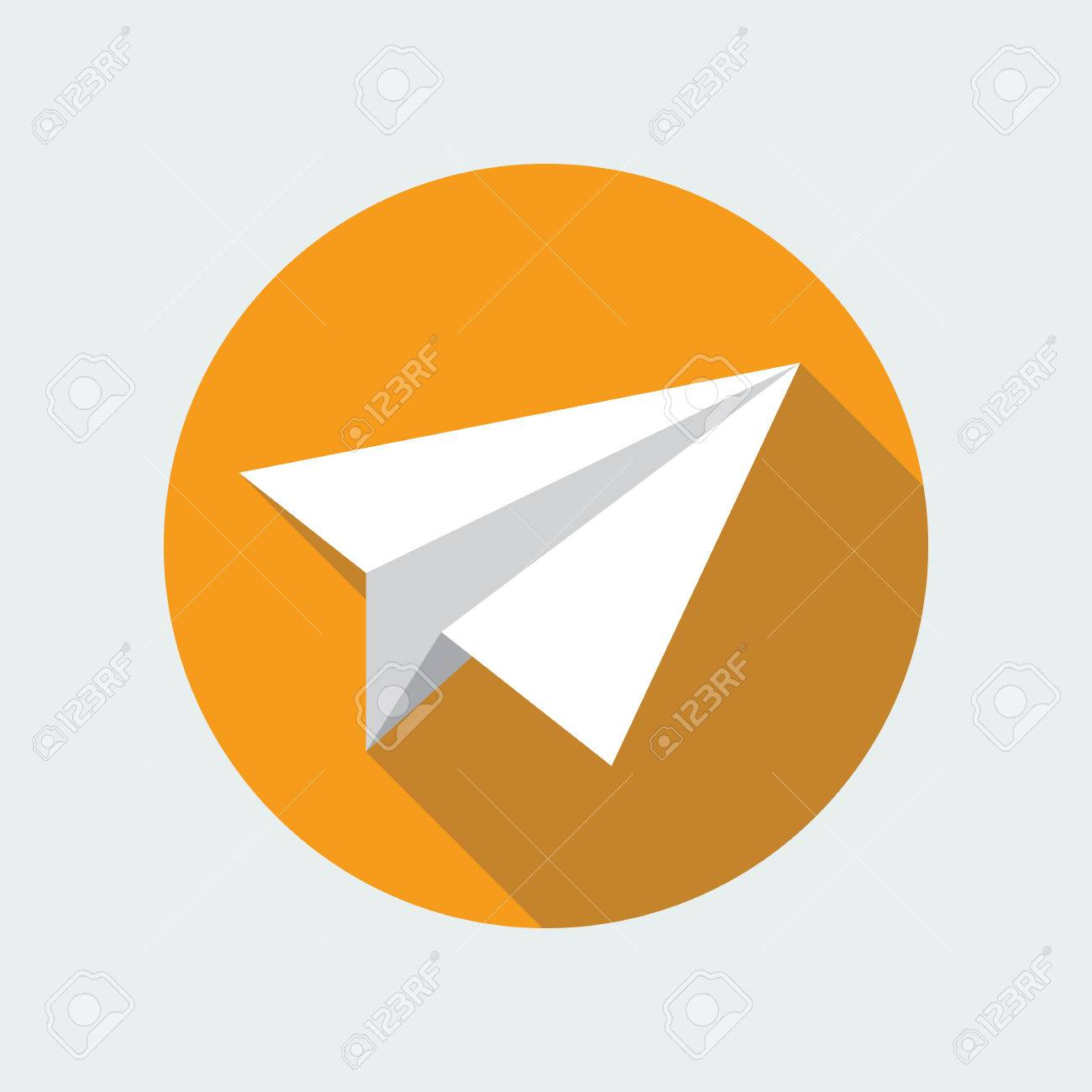 Paper Plane Navigational Flat Icon Sign Origami Airplane Symbol Vector Of A