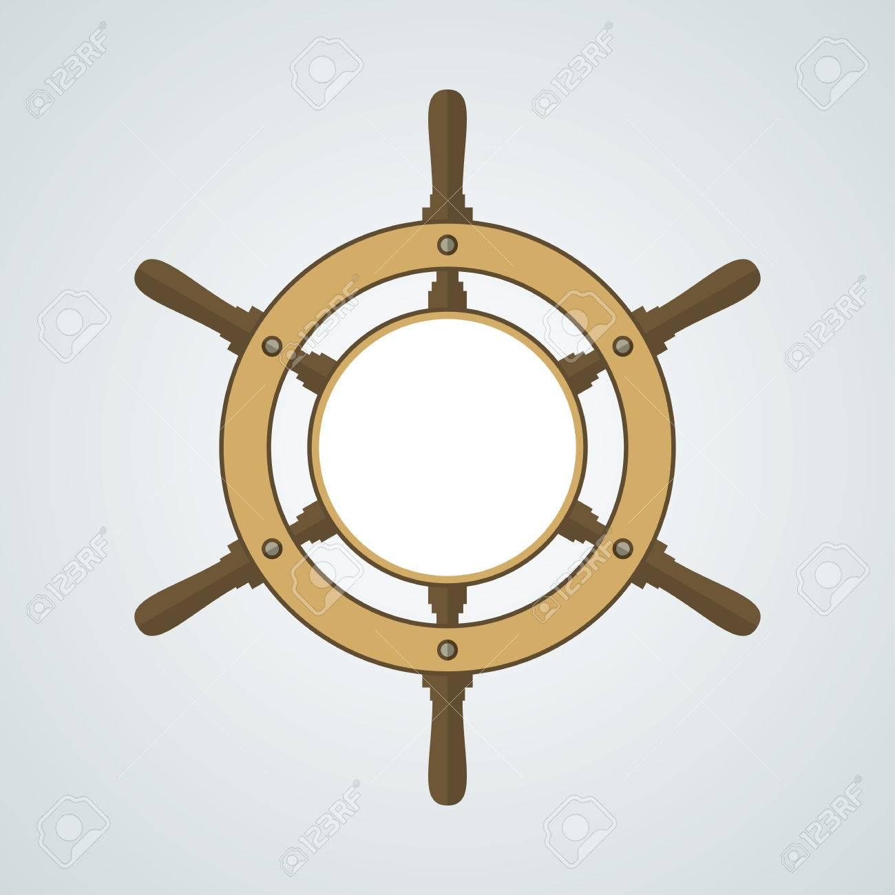 Ship helm vector background helm steering wheel with blank ship helm vector background helm steering wheel with blank space for your text buycottarizona