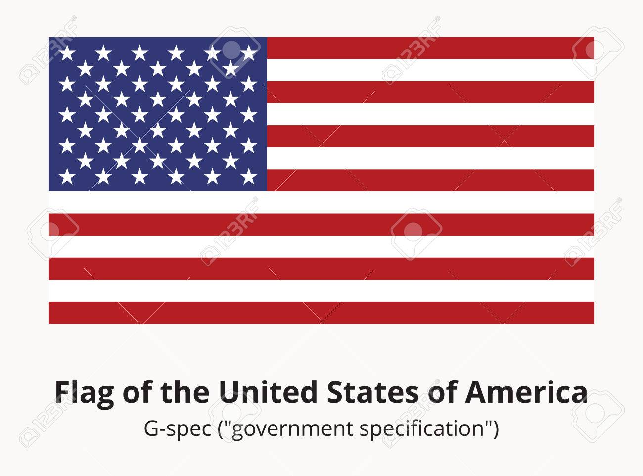 Usa National Flag Or American Flag In Proportion Of 10 By 19