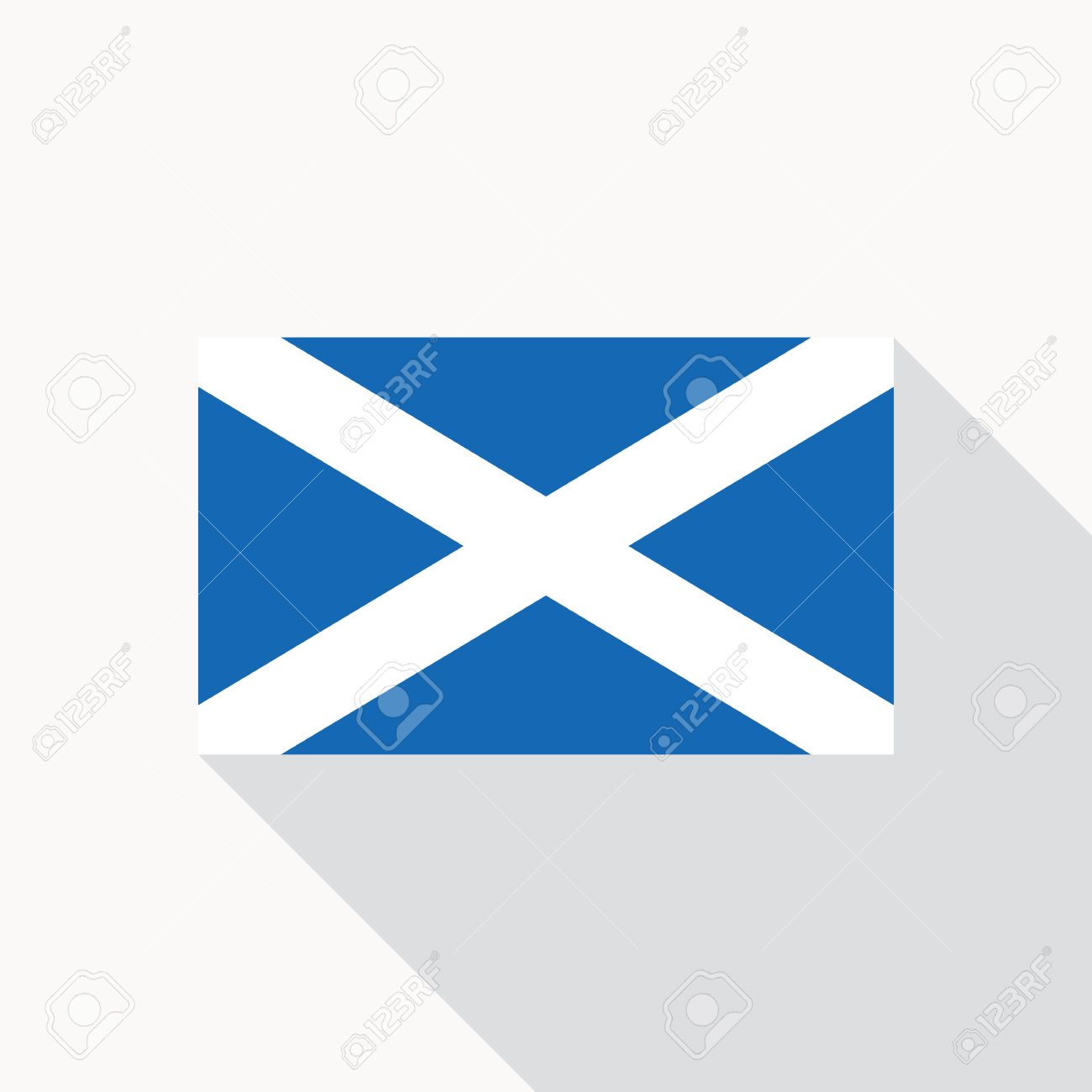 scotland national flag scottish flag icon in flat style with