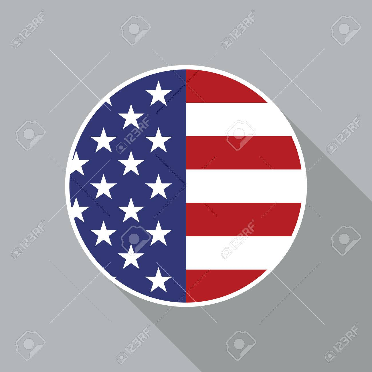 usa national flag vector flat icon vector icon of american flag rh 123rf com US Flag Vector Clip Art 5.0 Star US Flag Vector Art