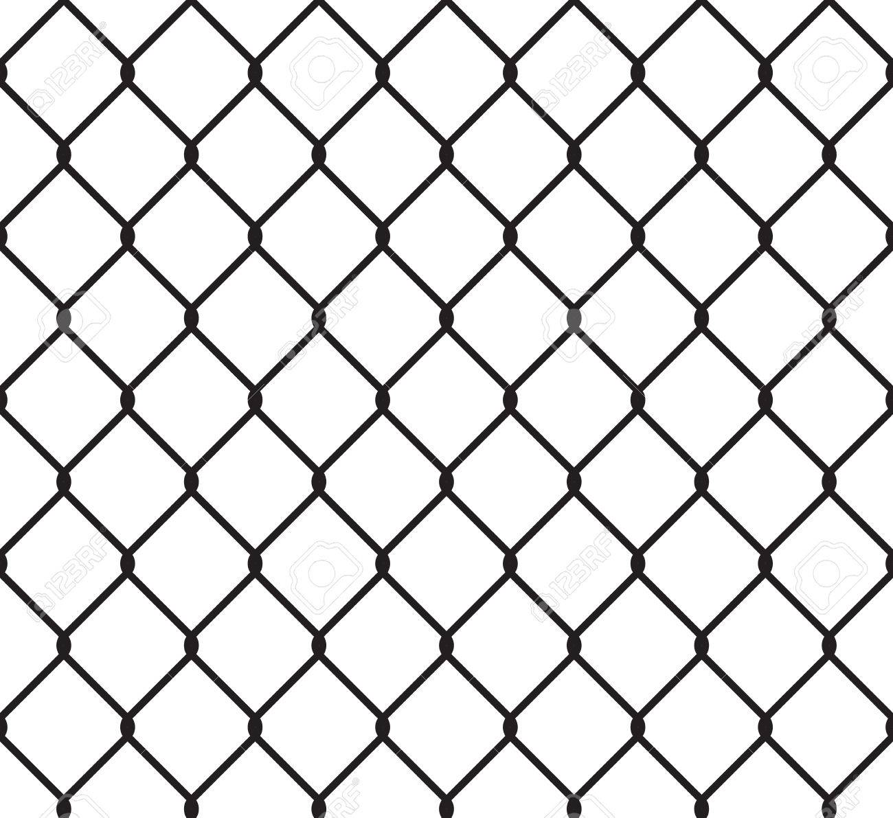 Metallic Wired Fence Seamless Pattern. Steel Wire Mesh Isolated ...