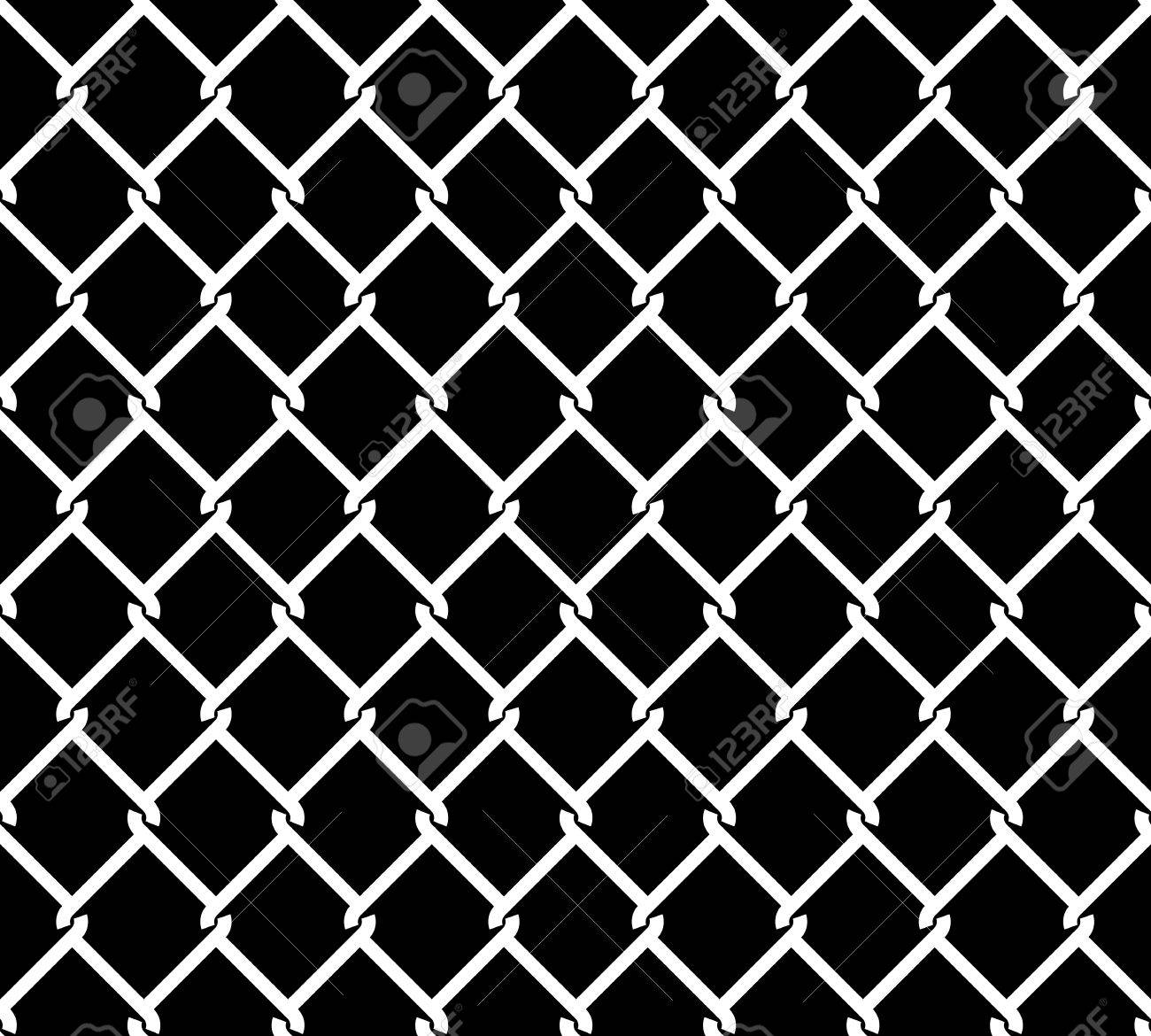 Wired Metallic Fence Seamless Pattern Overlay. Steel Wire Mesh ...