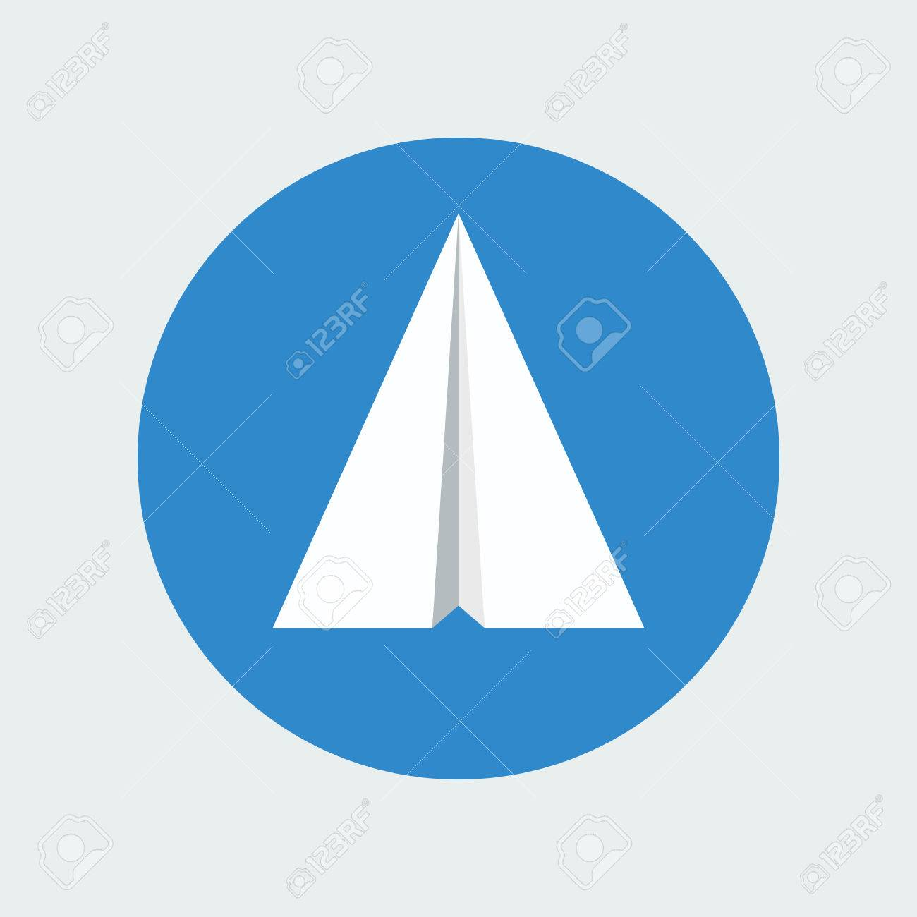 Paper plane icon isolated inside sky blue circle background paper plane icon isolated inside sky blue circle background symbol of a white papercraft origami buycottarizona Image collections