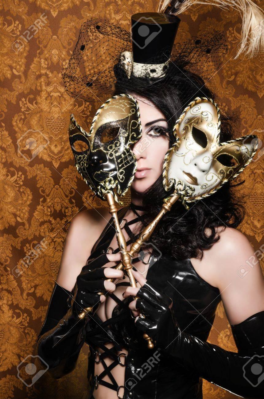 神秘的な仮面舞踏会 - セクシーな意地の悪い女ベネチアン マスク の ...