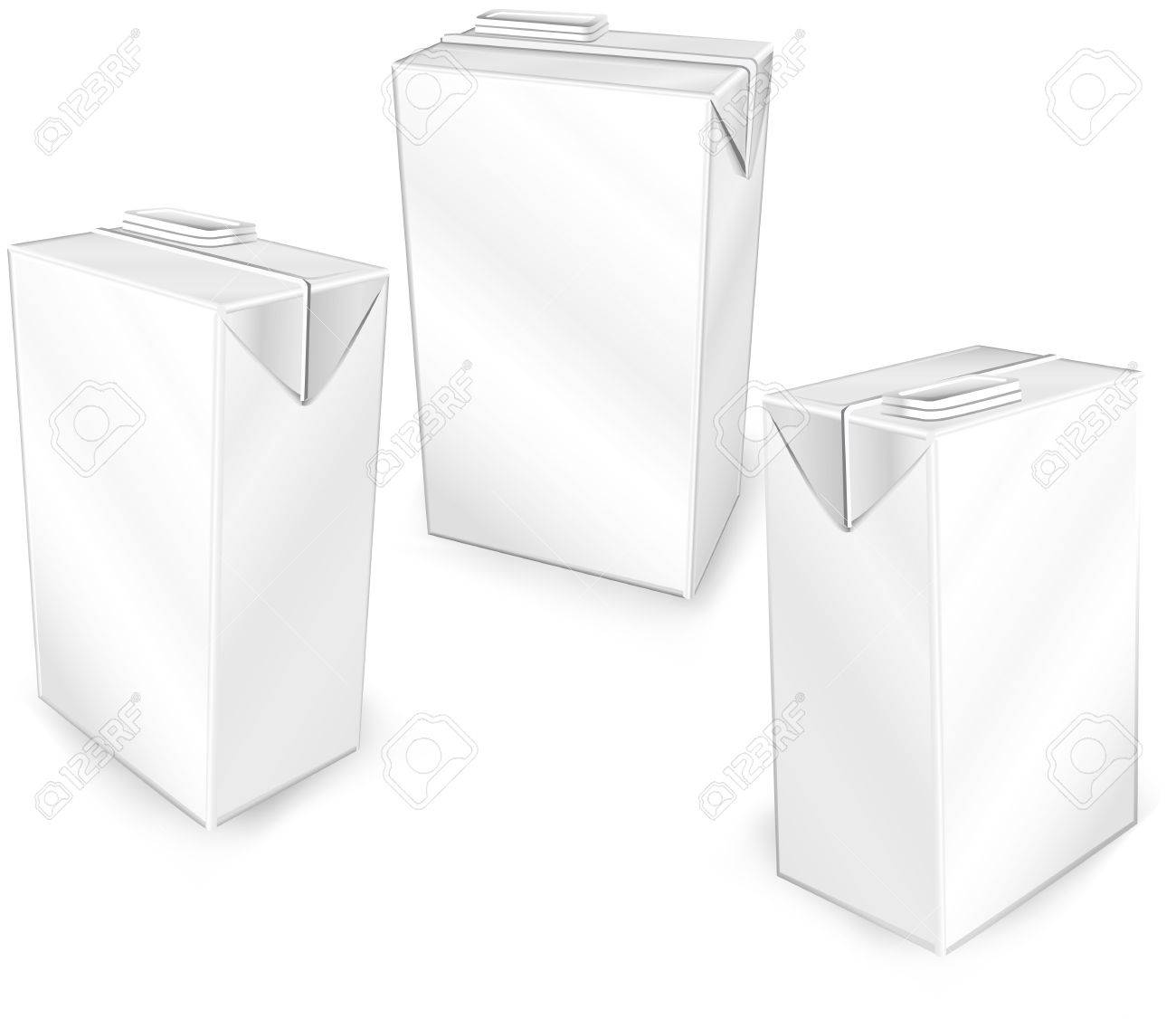 Milk or juice carton packages isolated on a white background, vector illustration Stock Vector - 4605615