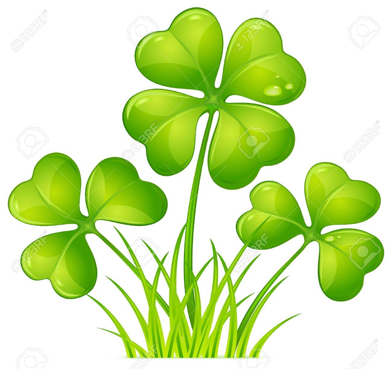 four leaf clover with green grass for st patrick u0027s day royalty