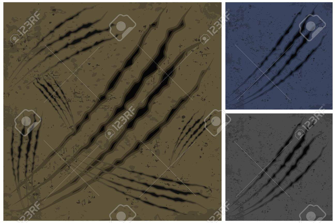 Claw scratches background in brown color, vector illustration Stock Vector - 13610722