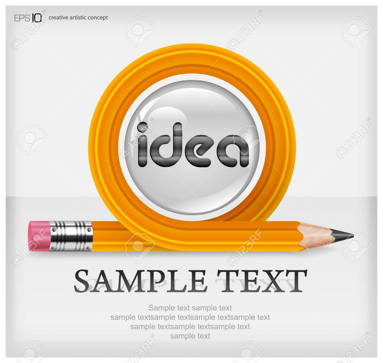 Wooden sharp transformed pencil &amp, text, isolated on white background Stock Vector - 15285429