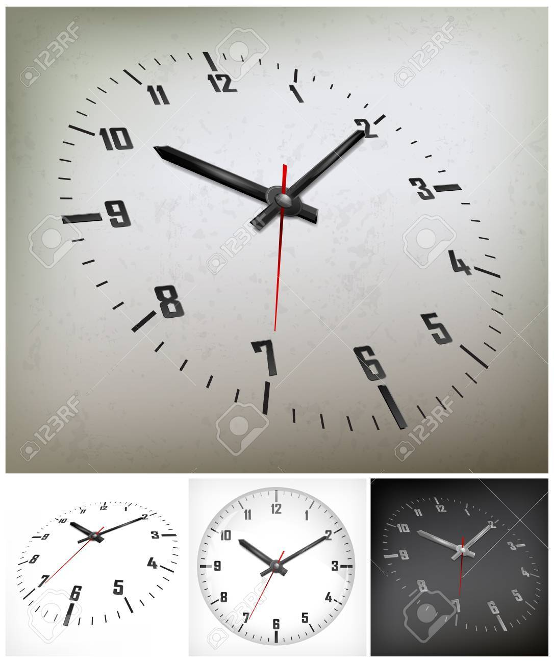 round dial with arabic numerals on gray background, vector illustration Stock Vector - 18845095