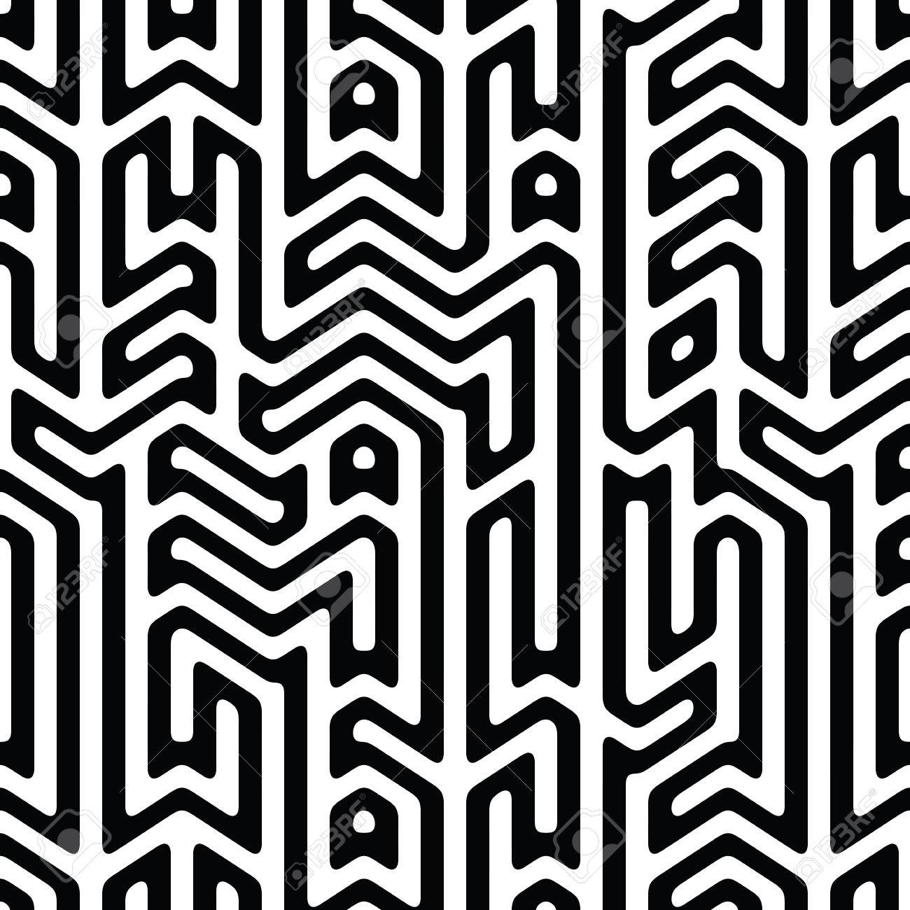 Black white abstract background with complex infinity maze stock vector 62745298