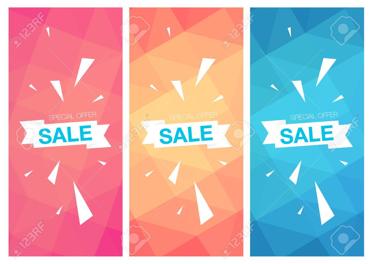 super sale special offer web banner templates on colored background
