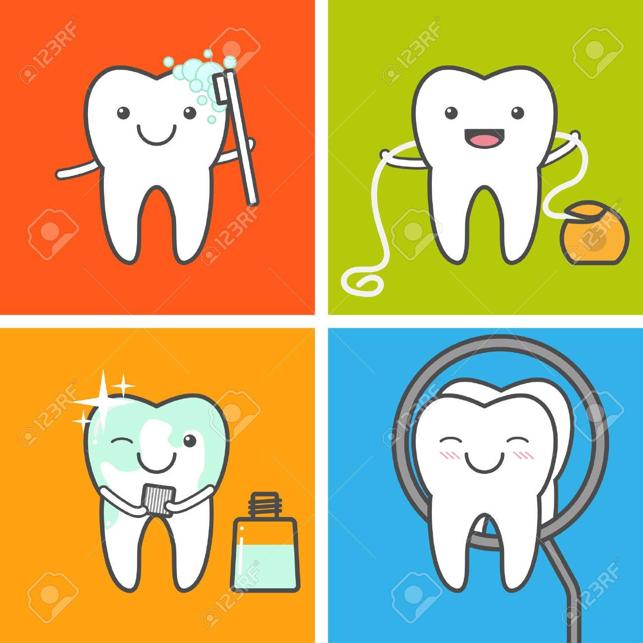 子供の歯のケアと衛生のベクトル...