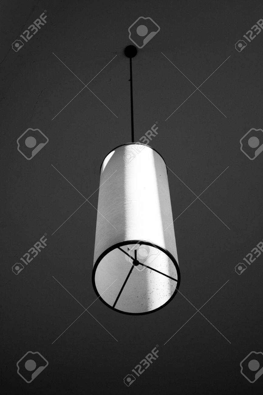 A unique light fixture in dramatic lighting stock photo 341839