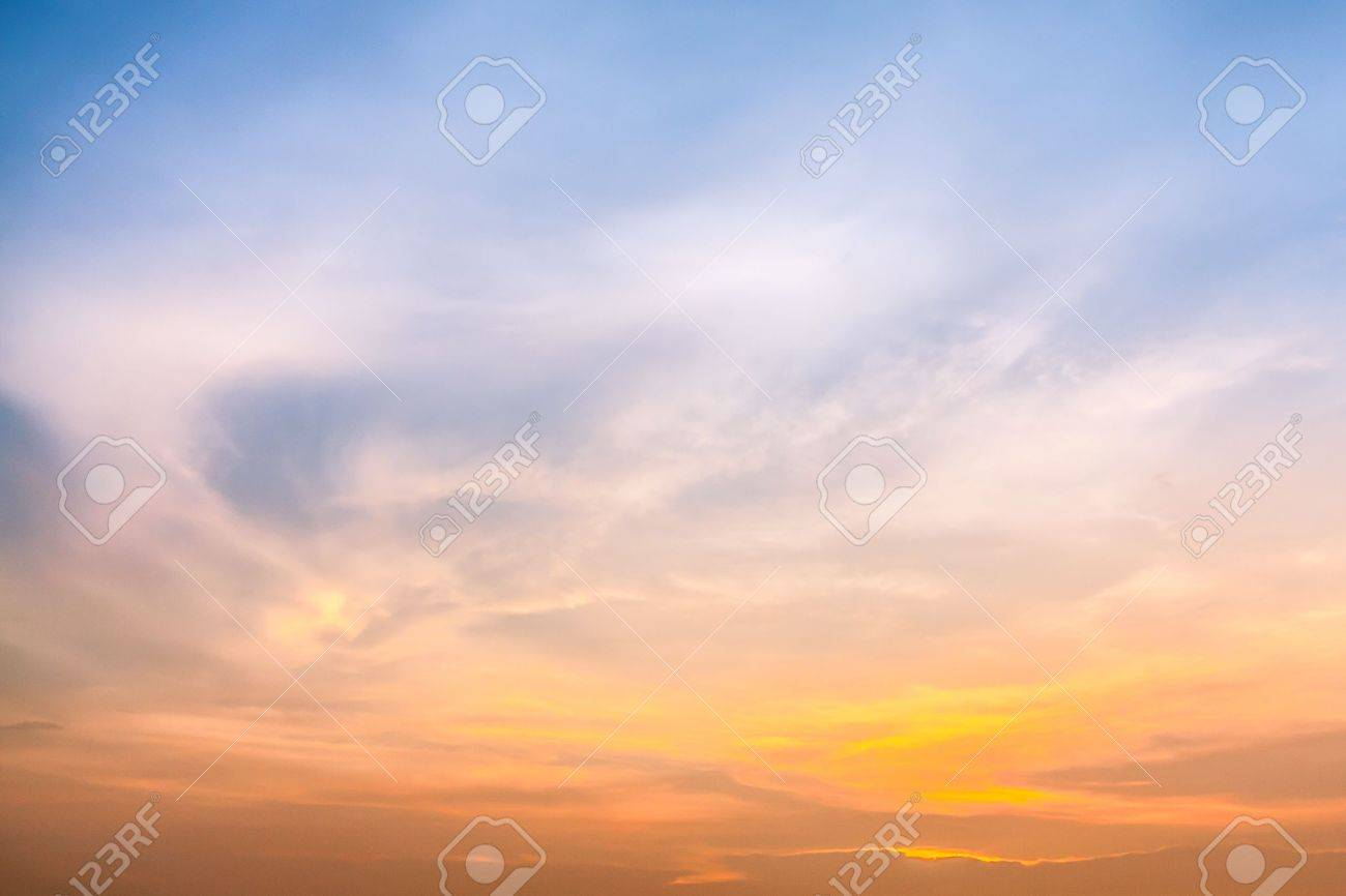 Colorful sky in twilight time background - 21882542