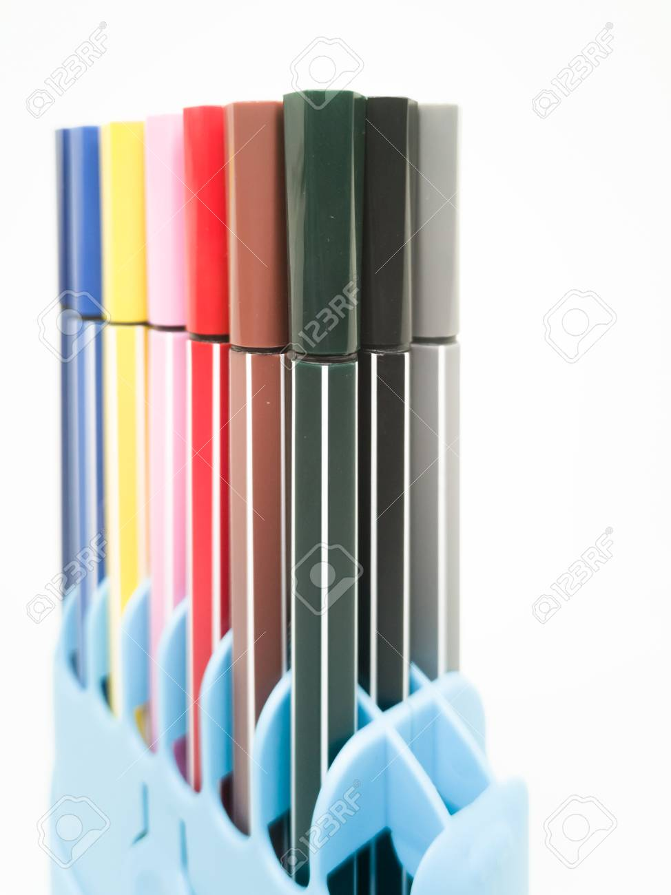 Set of colorful marker paint pen isolated against white background - 106223026