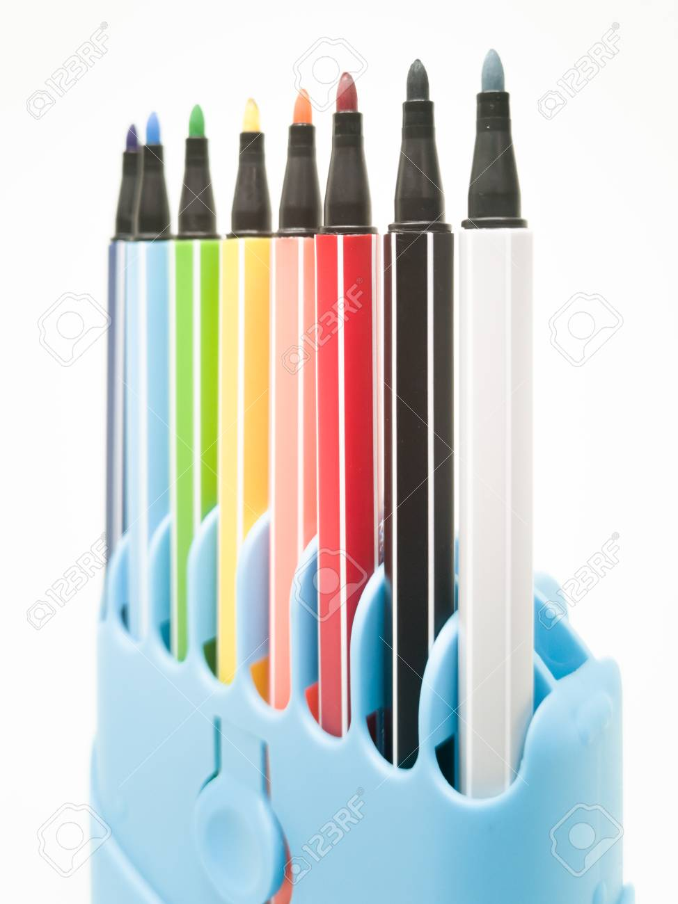 Set of colorful marker paint pen isolated against white background - 106223054