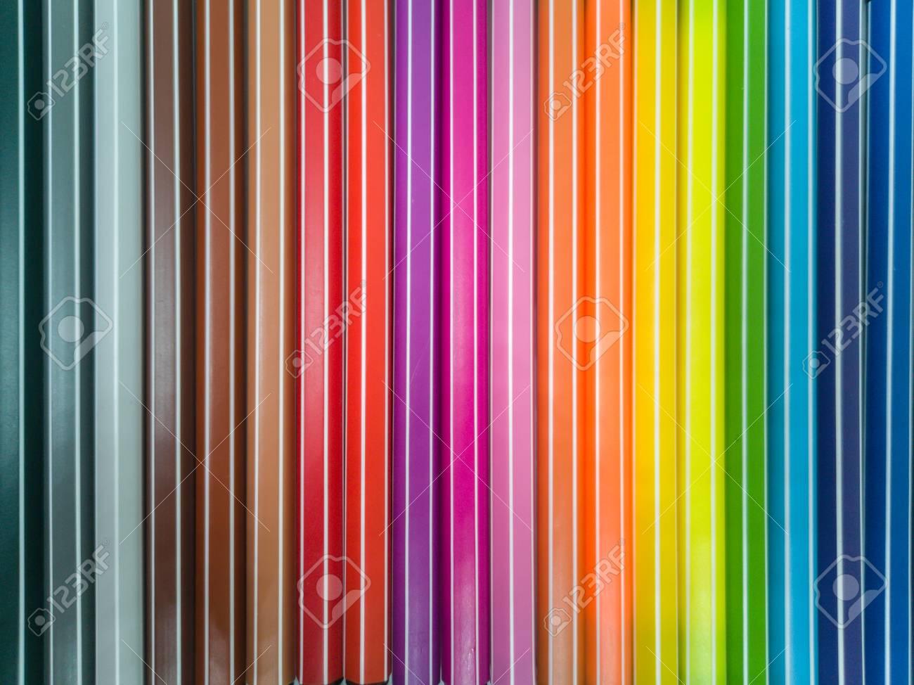 Set of colorful marker paint pen vibrant background - 106223056