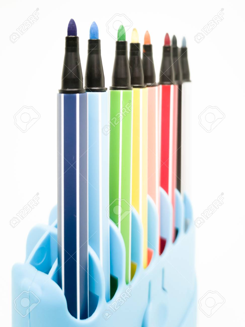 Set of colorful marker paint pen isolated against white background - 106223058