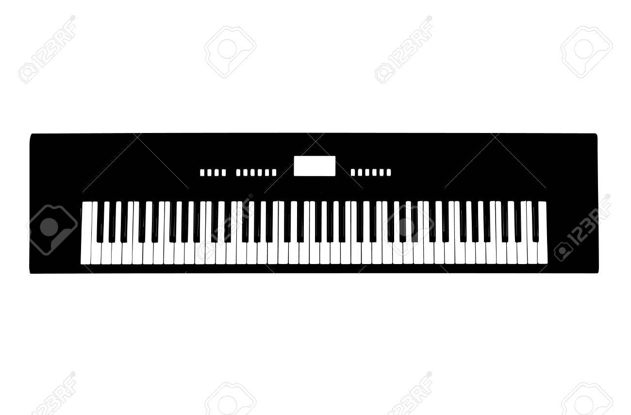 Electronic Organ Vector Stock
