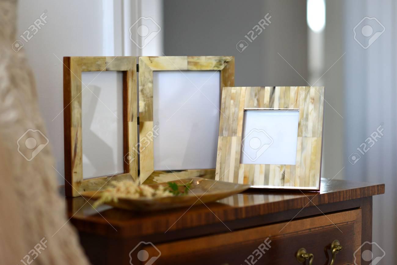 Naturliche Horn Bilderrahmen In Einem Schlafzimmer Einstellung