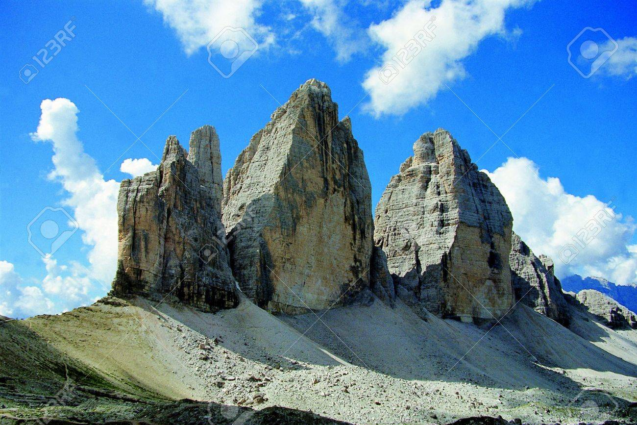 Scenic view of Tre Cime di Lavaredo, Dolomites, Sexten, Italy Stock Photo - 5148460