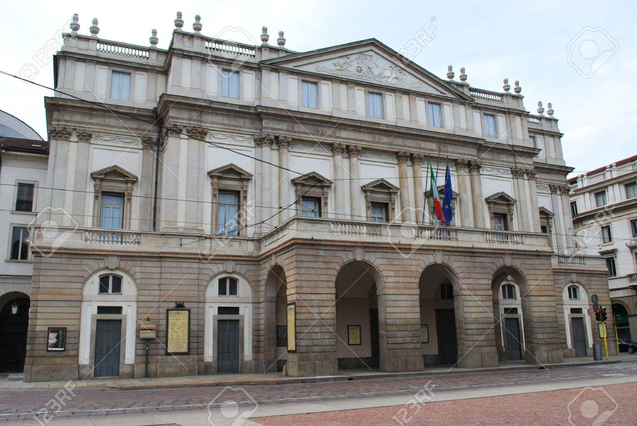 World's famous theatre Scala in Milan, Italy Stock Photo - 5709813
