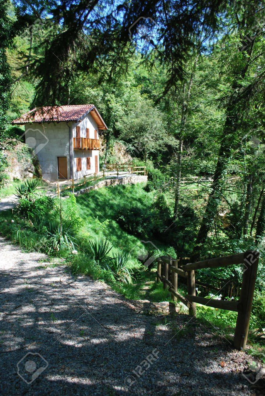 small country house in the forest italy stock photo picture and small country house in the forest italy stock photo 8073870