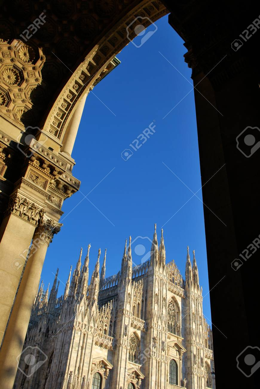 The Duomo, gothic cathedral of Milan, Lombardy, Italy Stock Photo - 8622756