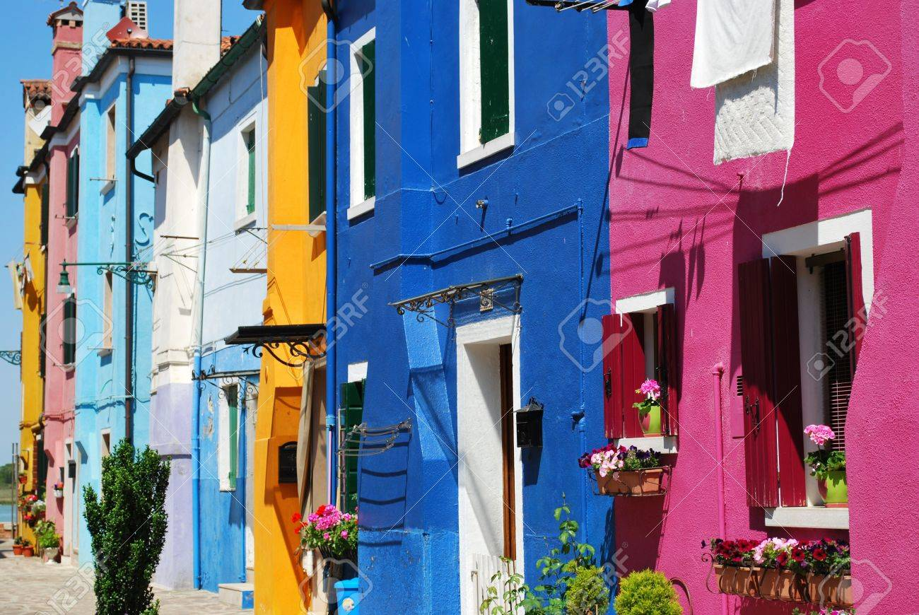 Colorful houses in Burano Island, Venice, Italy Stock Photo - 15759029