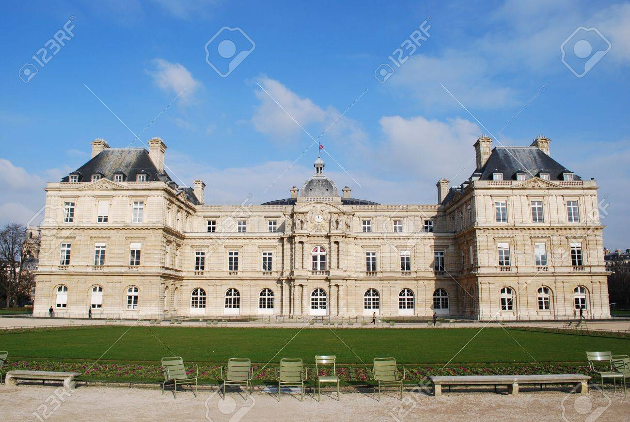 The Luxembourg Palace in beautiful garden, Paris, France Stock Photo - 15745291