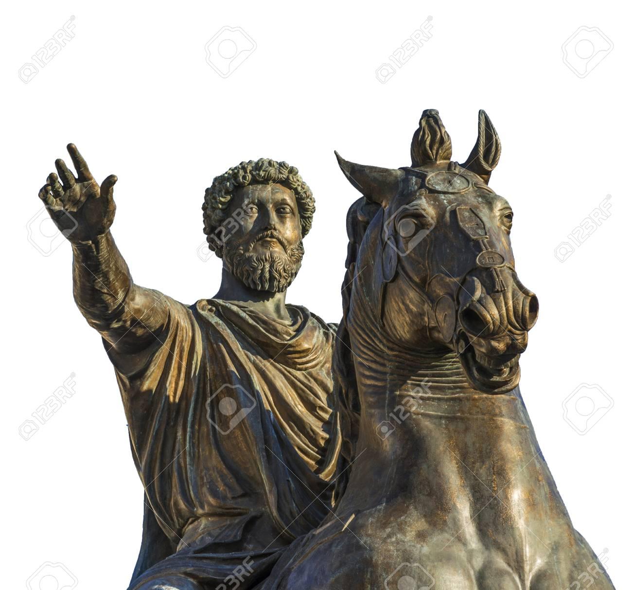 Antiguo Monumento Ecuestre Del Emperador Marco Aurelio, Una Réplica ...
