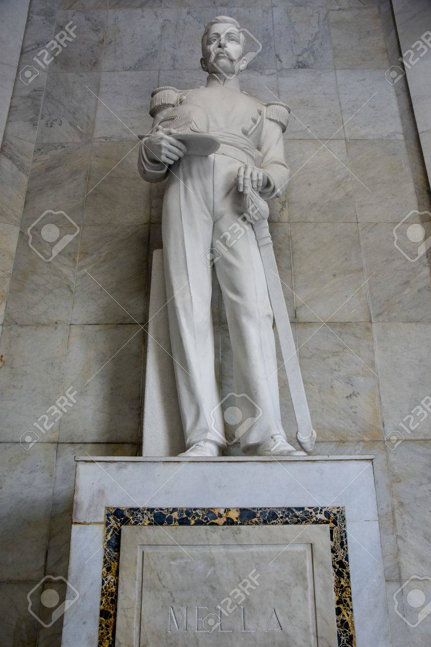 Statues Of Altar De La Patria, The Altar Of The Homeland. Houses ...