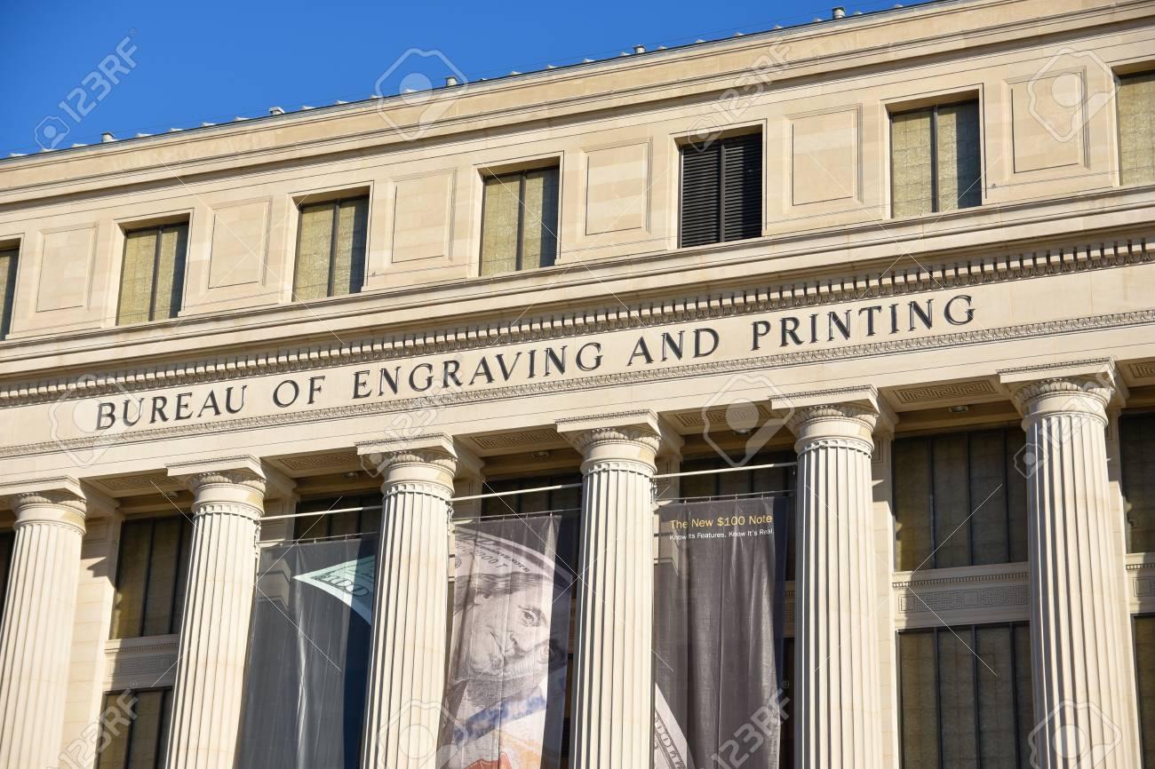Washington dc usa bureau of engraving and printing stock photo