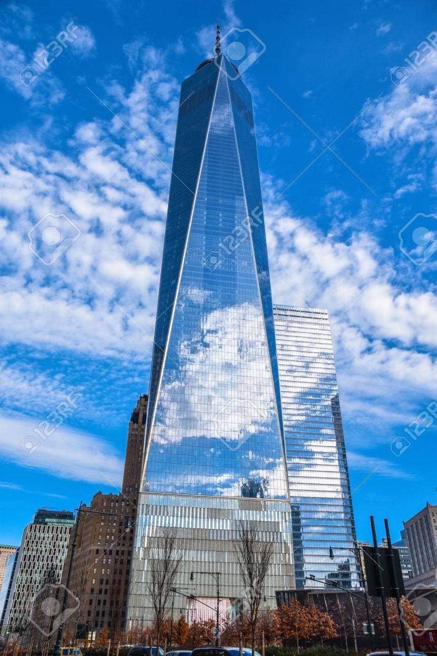 Manhattan New York Usa One World Trade Center Freedom Tower
