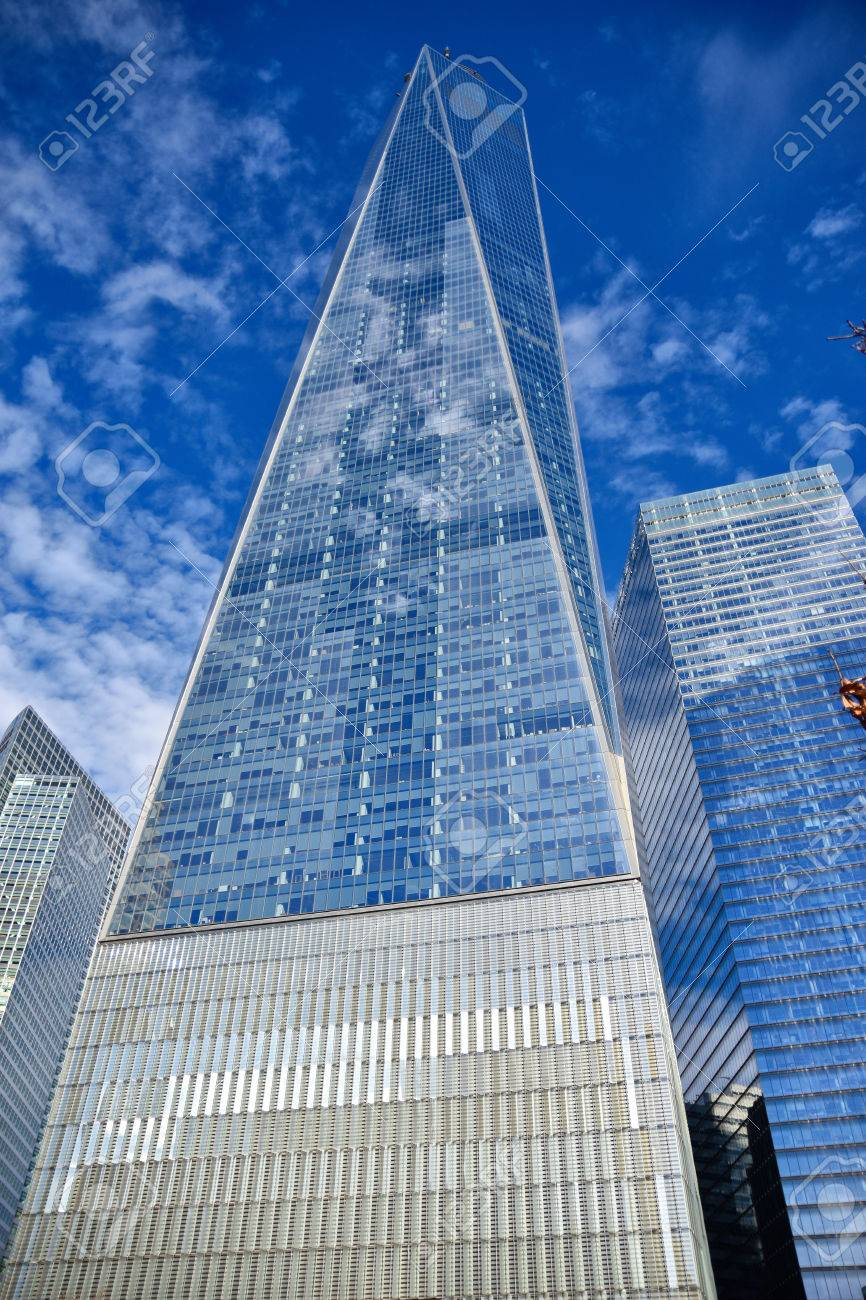 New York Usa View From Bottom Of One World Trade Center Freedom Stock Photo Picture And Royalty Free Image Image 63545016