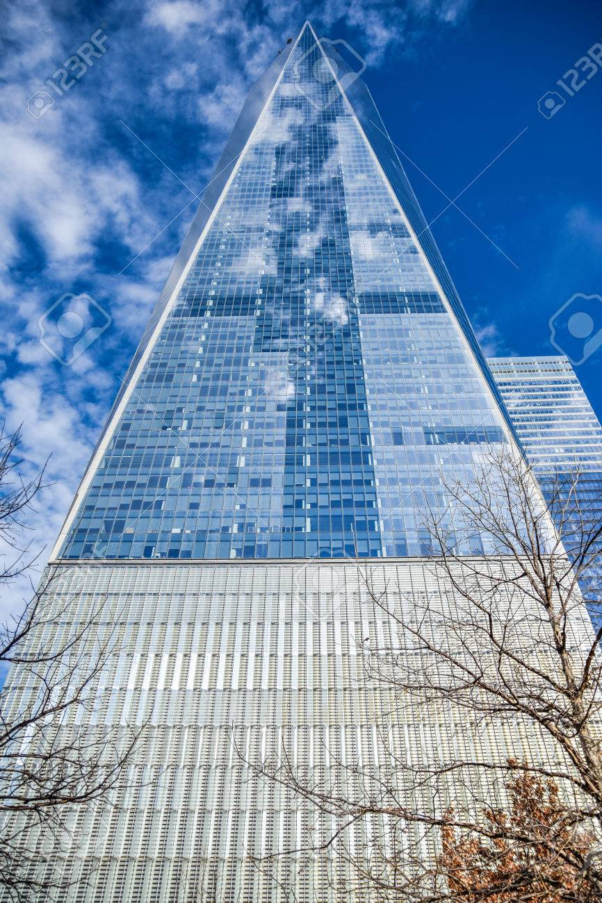New York Usa View From Bottom Of One World Trade Center Freedom Stock Photo Picture And Royalty Free Image Image 63543880