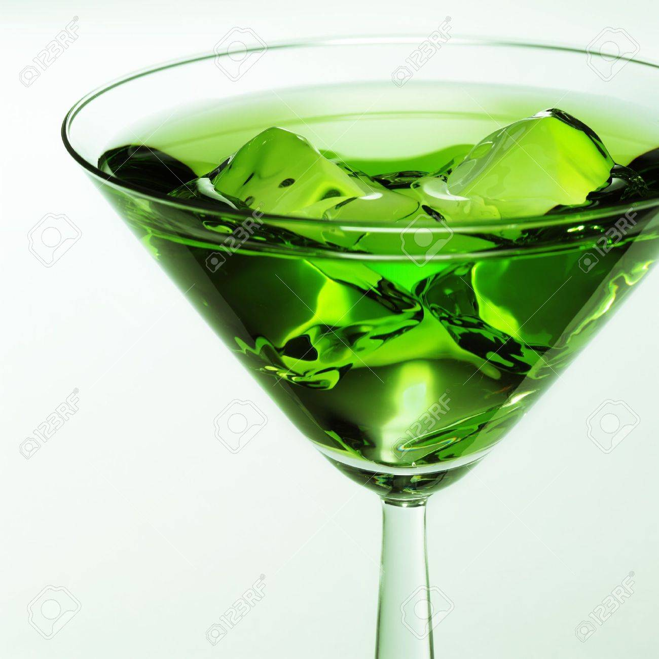 Coctail glass with green liquid Stock Photo - 5847184