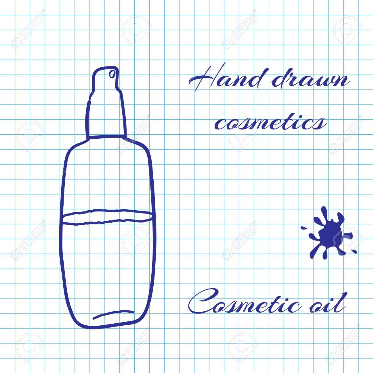 Hand Gezeichnete Linie Kunst Kosmetik Auf Notebook-Papier ...