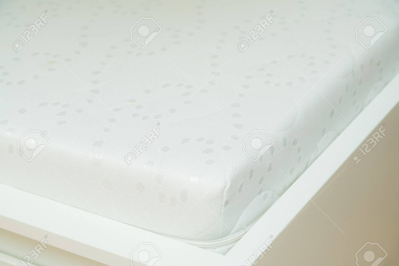 Close Up Of Memory Foam Mattress On The Bed Frame At Sleeping Stock Photo Picture And Royalty Free Image Image 117173815