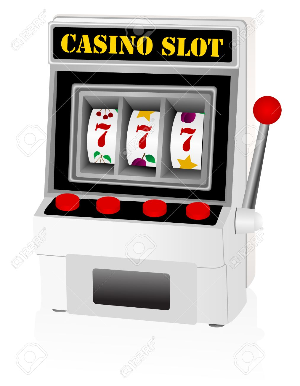 Illustration of a detailed slot machine Stock Vector - 5875990