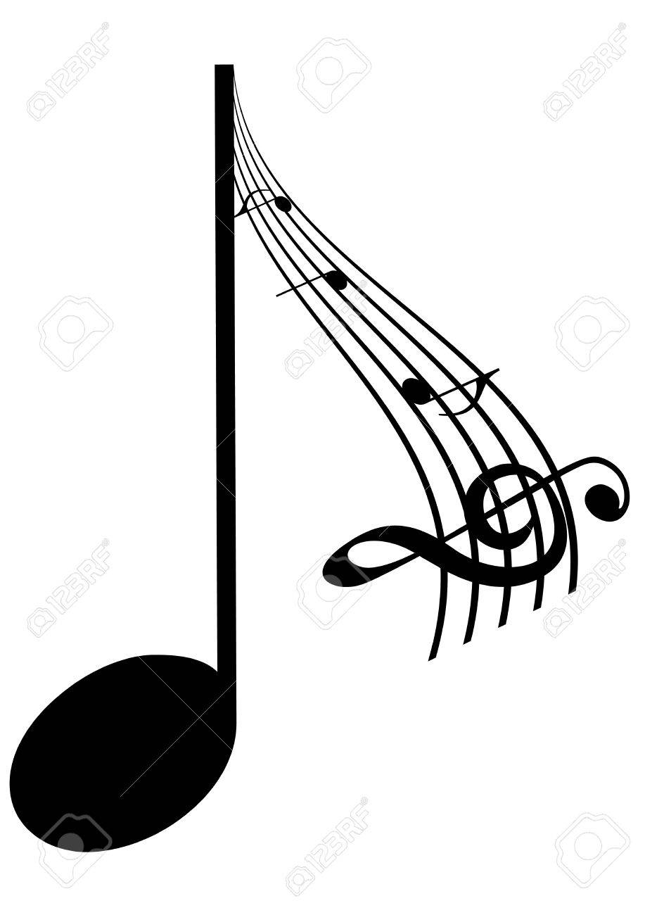 Abstrac Illustration of a music note Stock Vector - 7460555