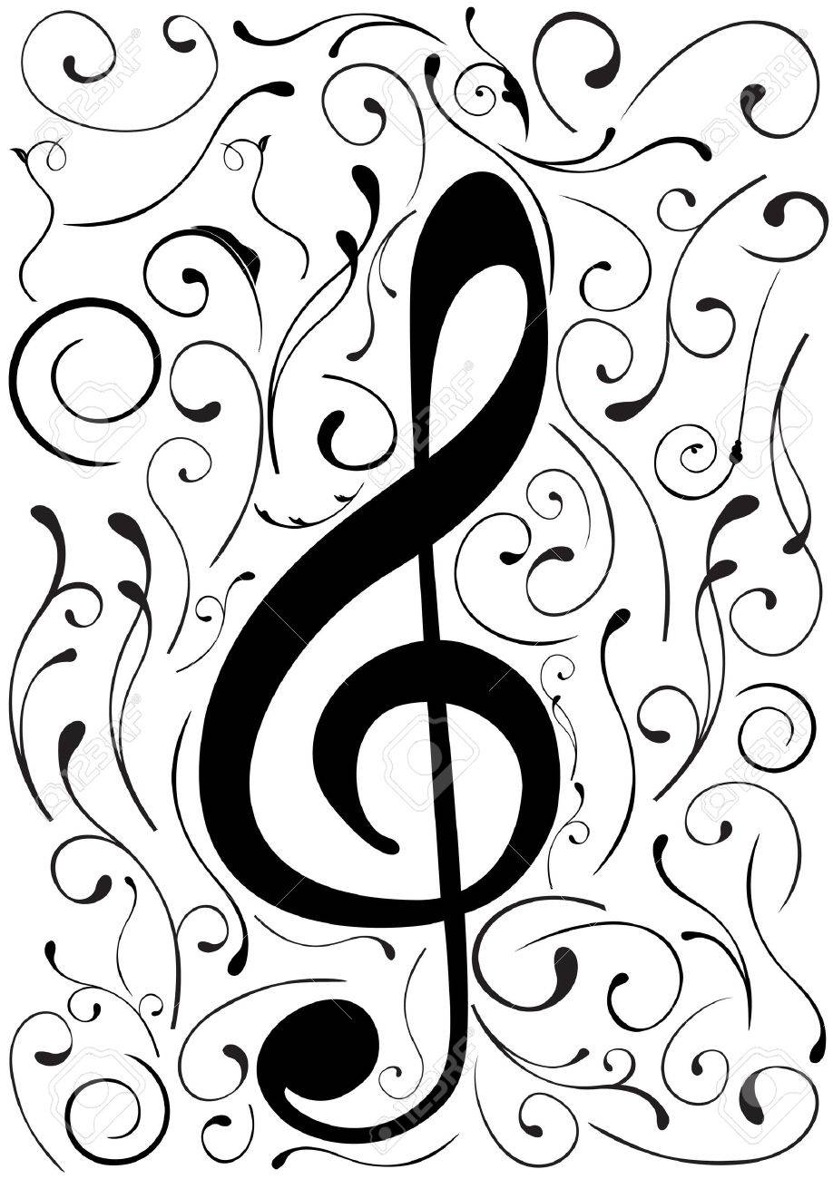 Conceptual illustration of a G clef Stock Vector - 7718420