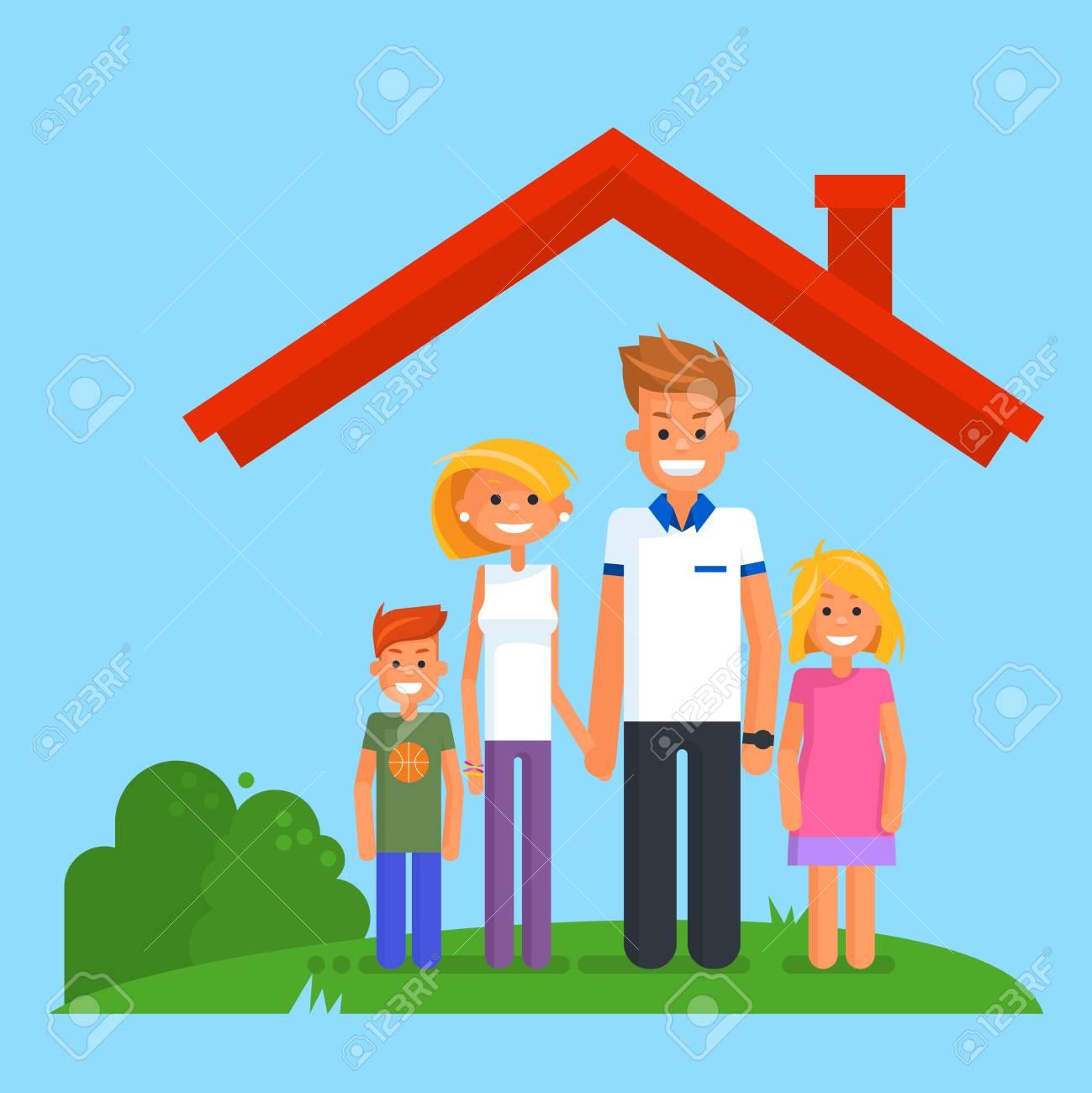 Family Life Insurance Illustration Royalty Free Cliparts Vectors