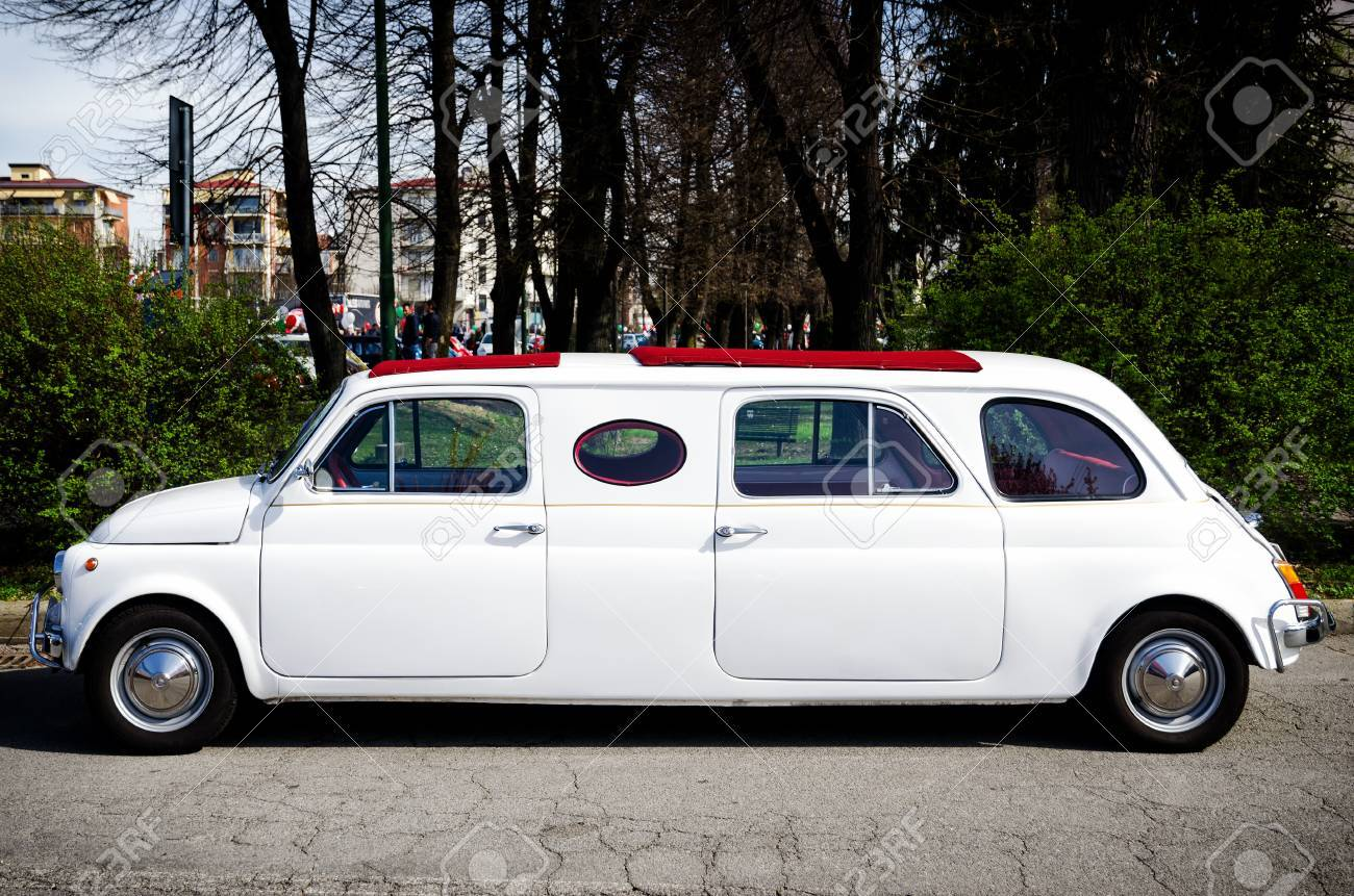 Alba Italy March 19 2017 Old Fiat 500 Limousine During