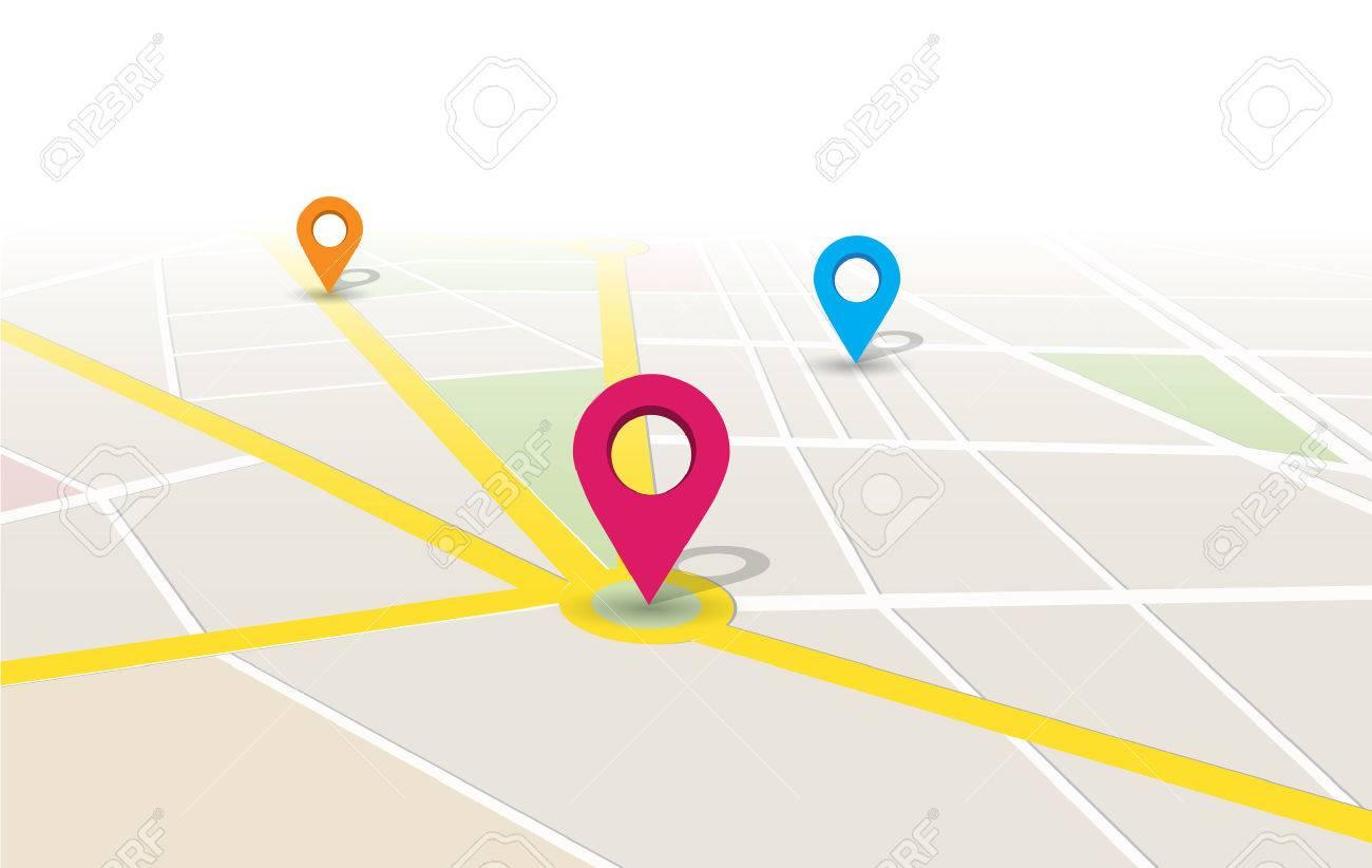 map location app Design Illustration. - 39349451
