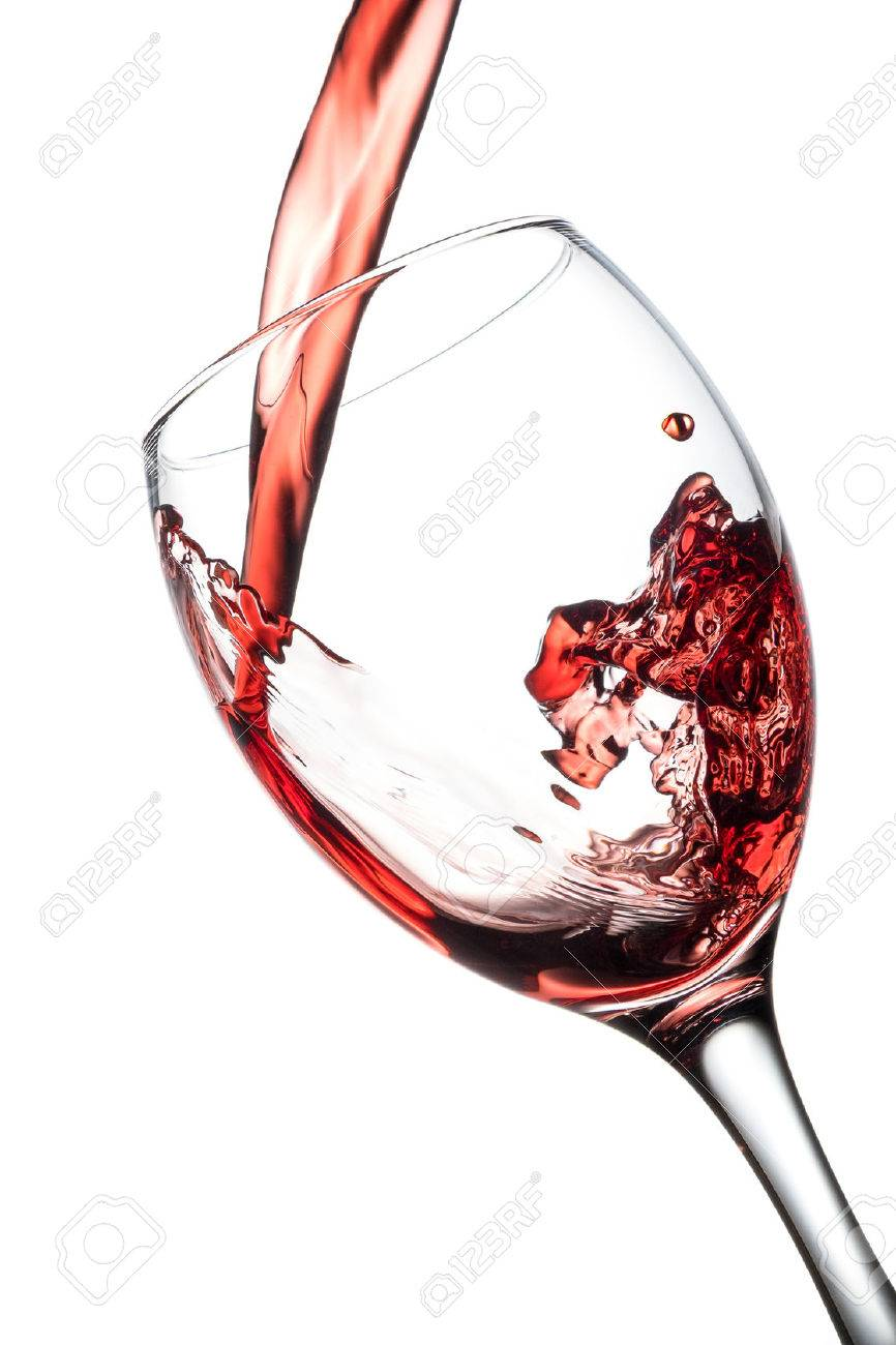 Pour red wine in glass Standard-Bild - 40960549