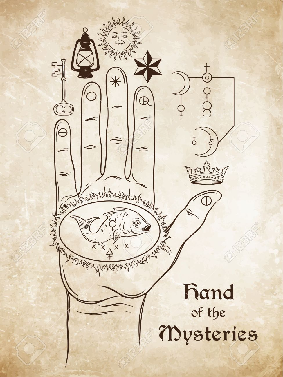 The Hand Of The Mysteries The Alchemical Symbol Of Apotheosis